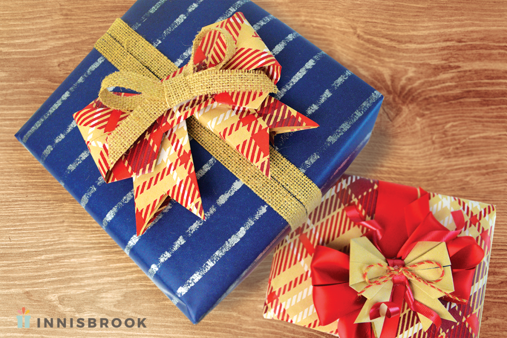 Innisbrook Kraft Wrapping Paper Origami Bows