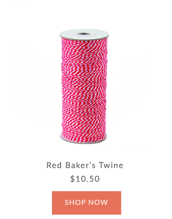 Red Baker Twine | Innisbrook Wrapping Paper