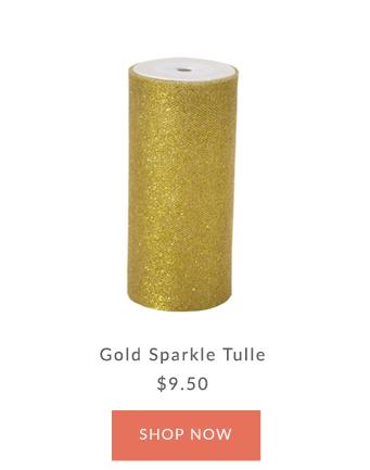 Gold Sparkle Tulle Ribbon | Innisbrook