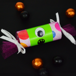 One Eyed Monster with Innisbrook Wrapping Paper and Hot Pink Tulle