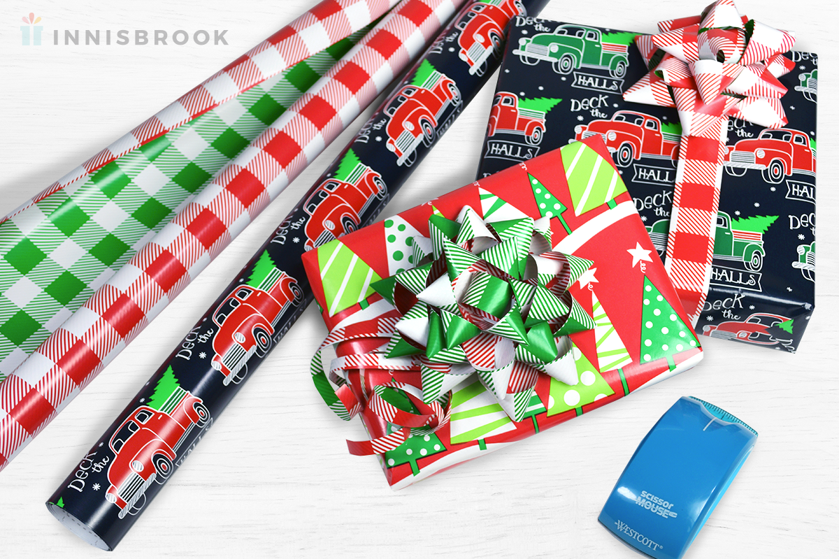 DIY Wrapping Paper Bows by Innisbrook