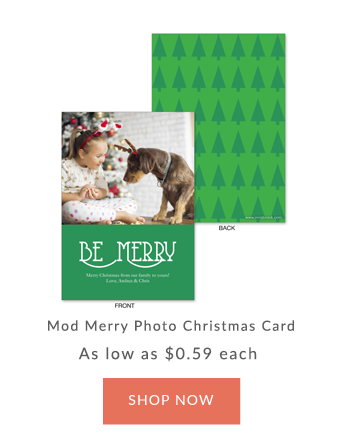 Innisbrook Be Merry Customized Photo Christmas Card