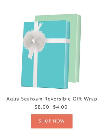Innisbrook Aqua Reversible Wrapping Paper