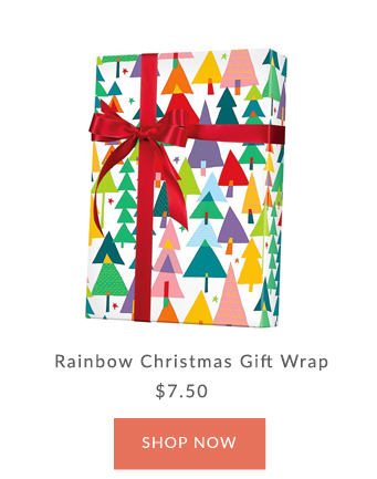 Innisbrook Rainbow Christmas Tree Wrapping Paper
