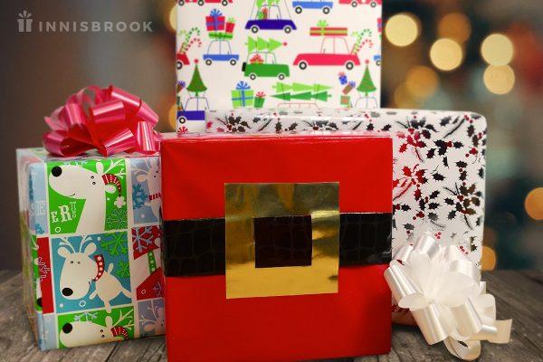 Wrap Your Gift Like Santa's Belt